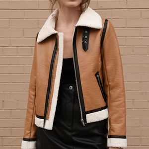 Amazing Shearling Bomber Jacket